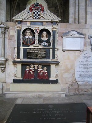 Romsey Abbey - Tombs in Romsey Abbey, including that of Earl Mountbatten of Burma.