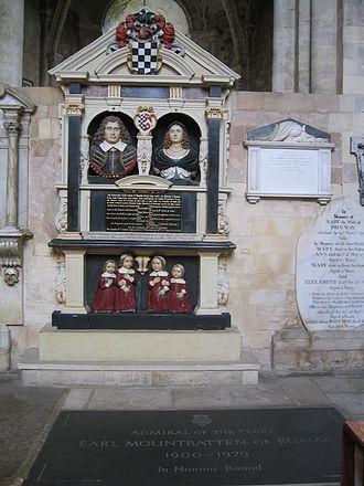 Romsey Abbey - Tombs in Romsey Abbey, including that of Earl Mountbatten of Burma.