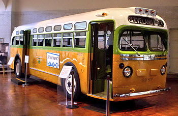 English: The bus on which Rosa Parks refused t...