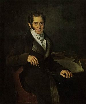 Carlo Rossi (architect) - Portrait by B. S. Mityar, 1820