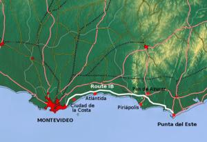 Ruta Interbalnearia - Image: Route IB Uruguay