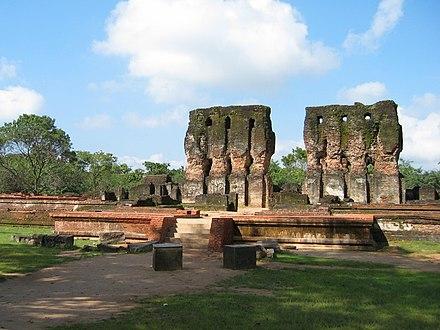 A royal palace in Polonnaruwa