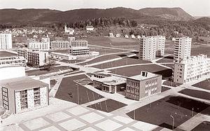 Velenje - Newly built quarter of Velenje in 1960