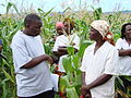 Rural farmers in Binga, northern Zimbabwe, welcome the AusAID Program team into their village. (10718107363).jpg