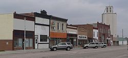 Downtown Rushville: west side of north Main Street