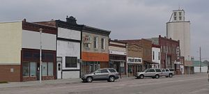 Rushville, Nebraska - Downtown Rushville: west side of north Main Street