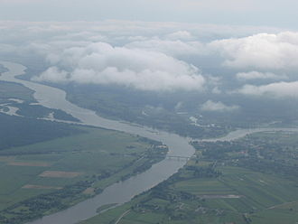 Rusnė Island - Rusnė from the east, between two rivers