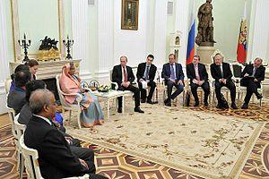 Bangladesh–Russia relations - 2013 Russia-Bangladesh summit