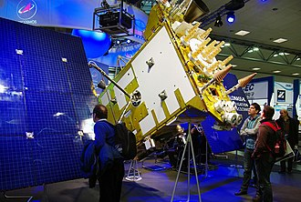 GLONASS-K - Image: Russian Navigation Spacecraft Glonass K1 at Ce BIT