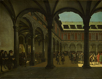 Secondary market - Courtyard of the Amsterdam Stock Exchange (Beurs van Hendrick de Keyser).