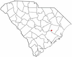 Location of Lane, South Carolina