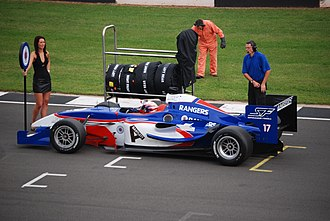 Rangers F.C. (Superleague Formula team) - Ryan Dalziel on the grid during the 2008 Donington weekend.