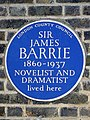 SIR JAMES BARRIE 1860-1937 NOVELIST AND DRAMATIST lived here.jpg