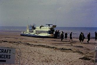SR.N6 - SR.N6-024 at Westgate beach, Kent 1967