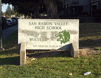 San Ramon Valley High School - Image: SRVHS Entrance Stone