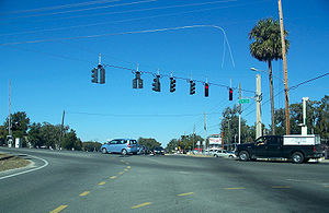 Florida State Road 25 - Intersection of State Road 25 with County Road 35 and State Road 35