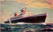 SS United States postcard