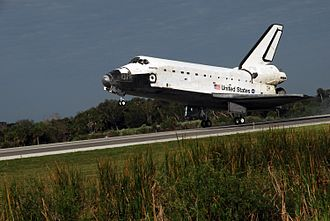Shuttle Landing Facility - Space Shuttle Atlantis landing after STS-122