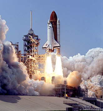 STS-30 - The launch of Atlantis on STS-30.