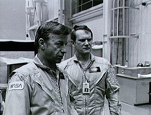 Karol J. Bobko - Bobko with fellow astronaut Paul J. Weitz (left) during training for STS-6