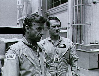 Karol J. Bobko - Bobko with fellow astronaut Paul J. Weitz (left) during training for STS-6