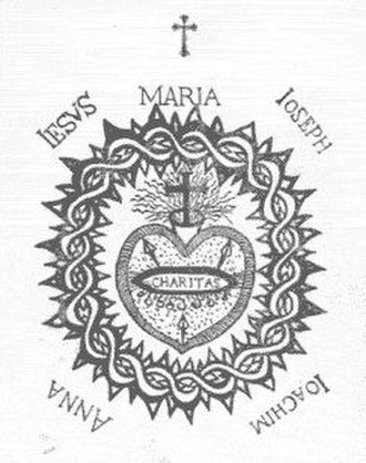 Scapular of the Sacred Heart - This is a depiction of the Sacred Heart of Jesus by Catholic visionary St Margaret Mary Alacoque