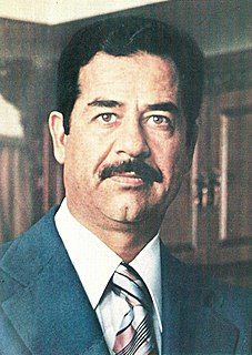 Saddam Hussein Iraqi politician and President