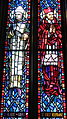 Saint Anthony of Padua Catholic Church (Dayton, Ohio) - stained glass, Sts. Albert the Great & Robert Bellarmine.JPG