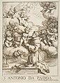 Saint Anthony of Padua adoring the Christ Child, copy after Cantarini MET DP815214.jpg