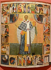 Saint Nicholas of Zaraysk with 20 scenes from his life