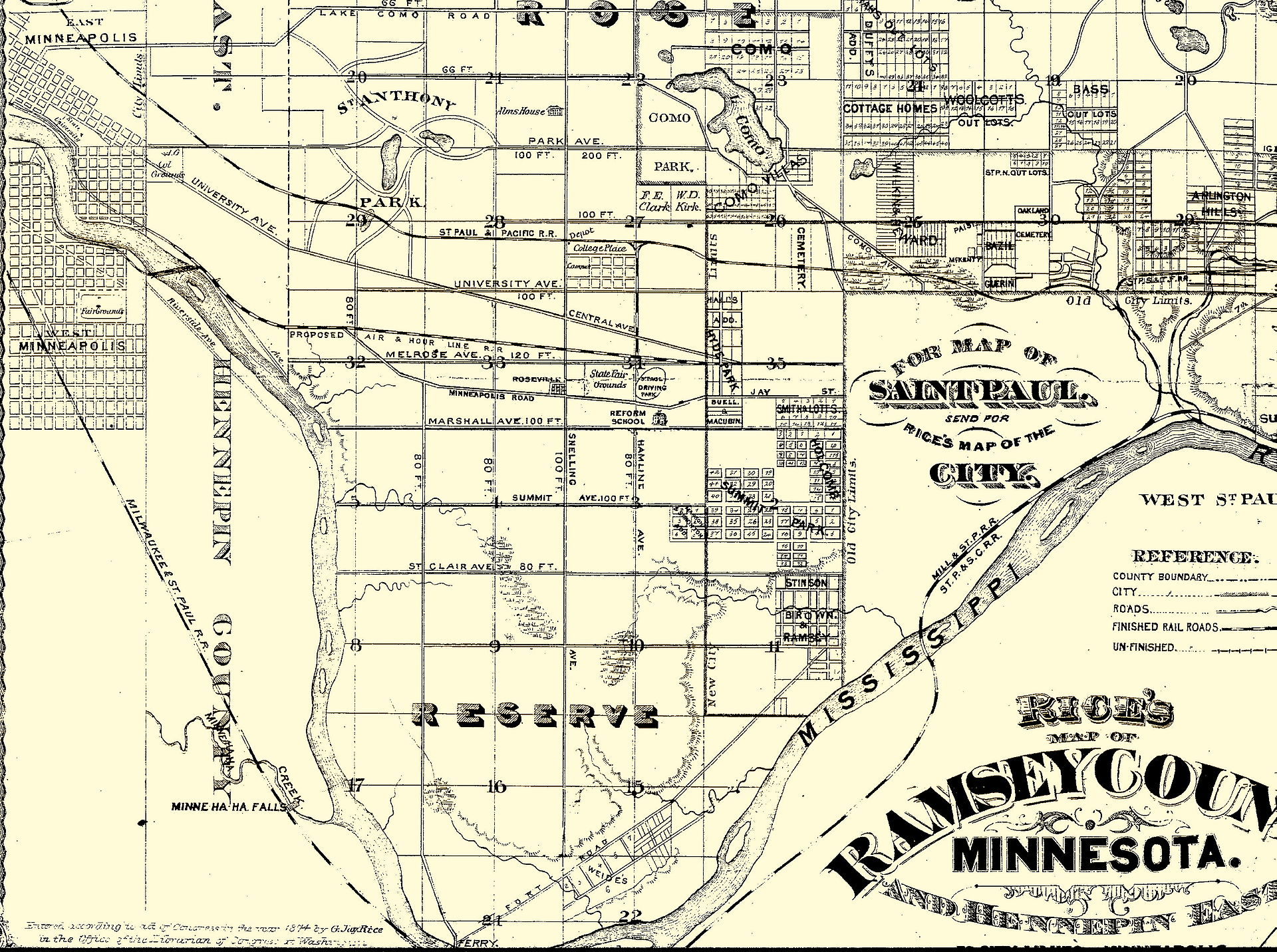 1920px-Saint_Paul_Rice%27s_Map_1874 Mn State Fairgrounds Map on mn valley fair map, bethel college map, valley fair amusement park map, mystic lake casino map, macalester college map, mall of america map, mn state fairgrounds entrances, metrodome map, downtown minneapolis map, target center map, university of minnesota map, mn zoo map, hazeltine golf course map,