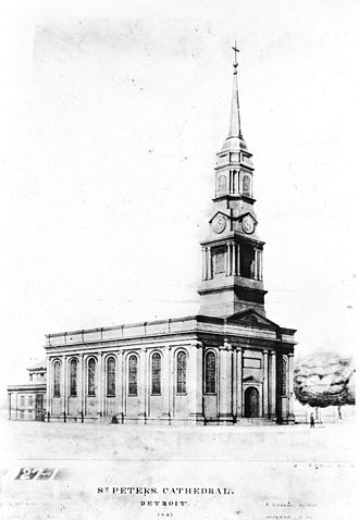 Saints Peter and Paul Church (Detroit) - Image: Saints Peter and Paul Church Detroit original plan
