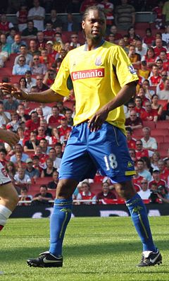 Diao with Stoke City in May 2009