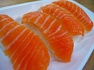 Shades of red - Nigiri salmon