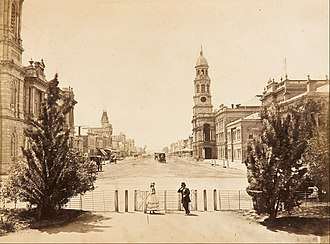 General Post Office, Adelaide - Image: Samuel Sweet King William Street Adelaide, looking north from Victoria Square Google Art Project