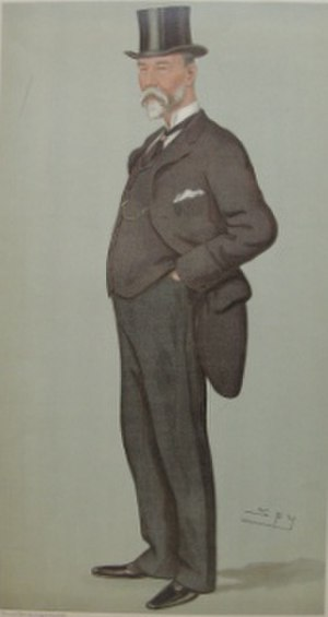 "Samuel Whitbread (1830–1915) - ""Parliamentary Procedure"" Whitbread as caricatured by Spy (Leslie Ward) in Vanity Fair, August 1895"