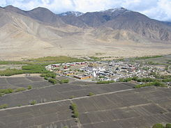 Samye Monastery, as viewed from the top of Samye Hepo-ri, a local holy mountain.jpg