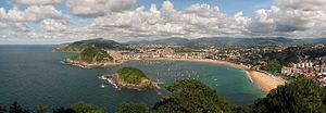 San Sebastián and Kontxa bay from Igeldo mountain