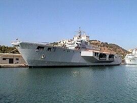 Salon défence navale DIMDEX a Doha, forte délégation des FAR - Page 2 270px-San_Giorgio_L9892