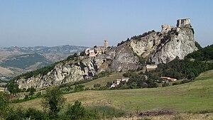 House of Montefeltro - San Leo on the rock mons feretrius (Montefeltro)