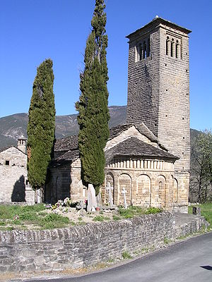 St. Peter's Romanesque church in Larrede, Spain