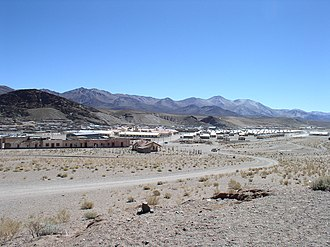 San Antonio de los Cobres - A panoramic view of the town, as seen from  the Tren de las Nubes train station