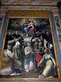 San bartolomeo a monte oliveto, int., altare maggiore, vergine in gloria e 10 sante dell'ambito di santi di tito 03.JPG