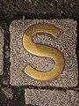 Sanctuary marker for Holyrood Abbey, Royal Mile, Edinburgh.jpg
