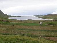 Sandsvatn a Lake on Sandoy in the Faroe Islands.JPG