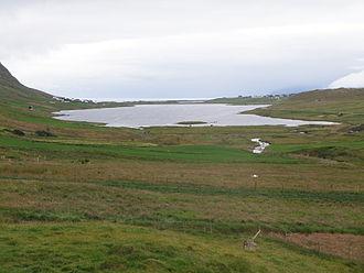 Sandoy - Image: Sandsvatn a Lake on Sandoy in the Faroe Islands
