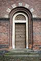 Sankt Matthaeus Kirke Copenhagen side door.jpg