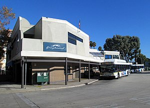 Santa Cruz Metropolitan Transit District - METRO and Greyhound terminal in downtown Santa Cruz
