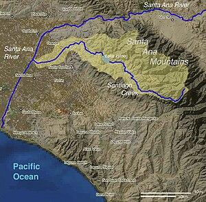 Santiago Creek - Image: Santiago Map Final