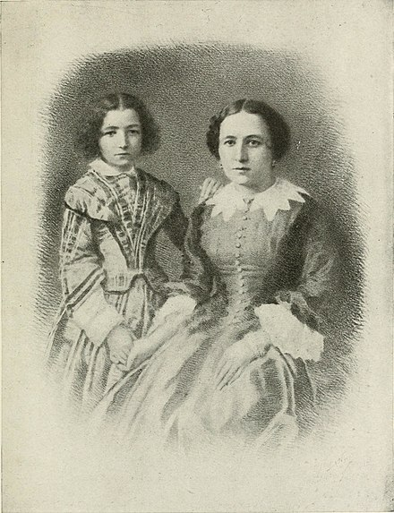 Bernhardt with her mother Sarah Bernhardt and her mother.jpg